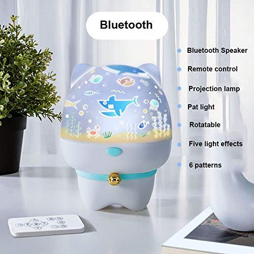JZH-Light 3 in 1 LED sterrenhemel projectorlamp Bluetooth muziekspeler inductie nachtlicht beamer met afstandsbediening & Beat Control & Timer voor thuis/decoratie, blauw