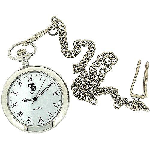 BOXX orologio da taschino argento aperto numeri romani catenella 30 cm