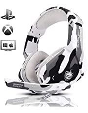 PHOINIKAS H1 Stereo Gaming Headset, Noise-Cancelling Headset, Bass Surround, Over Ear Headset, for PC,PS4, Xbox One, Mac, iPad, with Mic, LED Light, 360 Switch Controller, Classic Version Headset