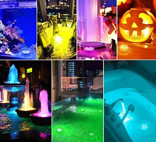 Alilimall Unterwasser LED Leuchten (2 Stück)