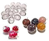 CRYSTAL KING Juego de 10 bolas de acrílico de 5 cm de diámetro para colgar, transparentes, bolas decorativas, juego de manualidades para el árbol de Navidad, bolas de acrílico, divisibles, rellenables