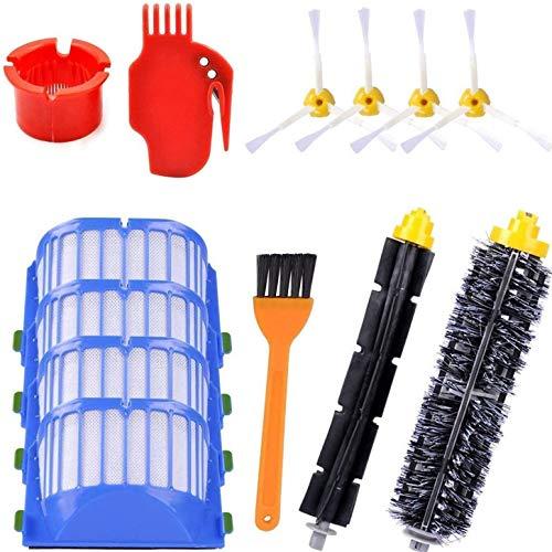 Kit de Cepillos Roomba Piezas de Repuesto Juego de Robot de Limpieza de Pisos Compatible con Roomba Serie 600 Kit de 13 Piezas Accesorios (13PCS)