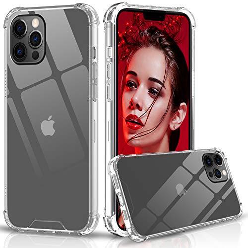 LeYi per Cover iPhone 12 PRO Max, Custodia Armor Trasparente Silicone Rigida PC Bumper TPU Ultra Sottile Crystal Antiurto Case per Originale Telefono iPhone 12 PRO Max