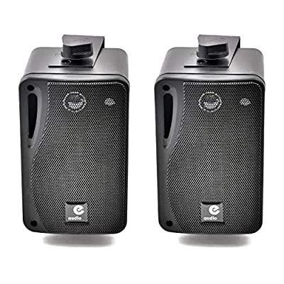 e-audio 3 3-Way Background Music Speakers With Brackets 80W 4 Ohm by e-audio