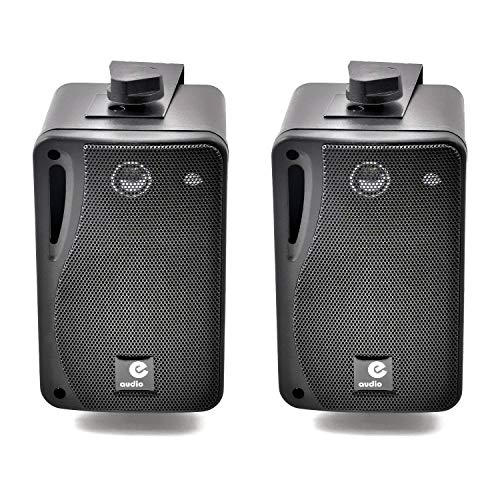 e-audio 3 3-Way Background Music Speakers With Brackets 80W 4 Oh