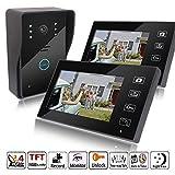 MicroMall 2.4G 7-Inch 2 Indoor monitor Outdoor camera TFT Wireless Video Door Phone Intercom Home Doorbell