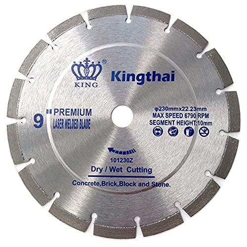 Kingthai 230mm 汎用型 ダイヤモンドブレード ダイヤモンドカッター 鉄筋入りコンクリート用