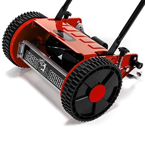 American Lawn Mower Company 101-08 Youth Grass Shark 8-Inch 5-Blade Manual Push Reel Lawn Mower, Red