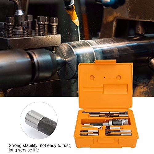 HYY-YY 13 STKS Boring Head R8 F1-1/2 Boring Bar Set, Hoge Nauwkeurigheid draaibank proces saai en frezen CNC Machine Gereedschap Accessoires Koolstofstaal Engels, 9 Stks 12,5 mm hardmetaal Boring Tips met R8-F1 Shank