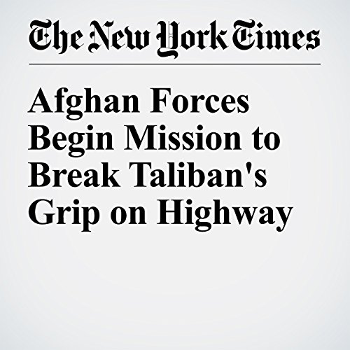 Afghan Forces Begin Mission to Break Taliban's Grip on Highway cover art