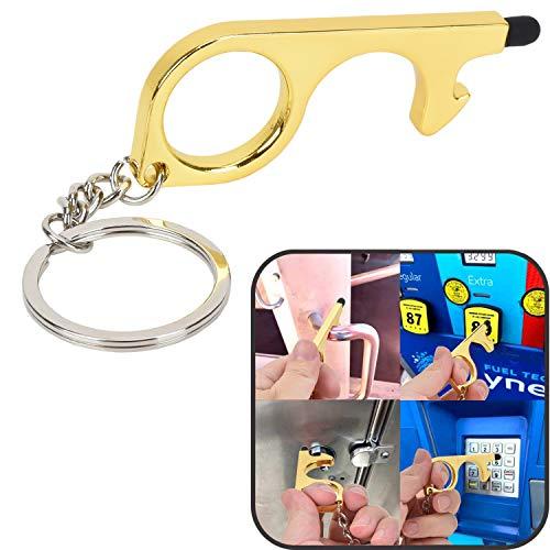 Willingood Tragbarer Türöffner-Werkzeug & Handwerkzeug ohne Berührung mit Schlüsselring, alle Vermeidung von Keimen durch Arbeiten an Touchscreens & Unterschriften-Pads, Einkaufstaschen
