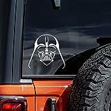 Vool Darth Vader Decal Star Vinyl Sticker Wars Cars Trucks Vans Walls Laptop White 5.5'