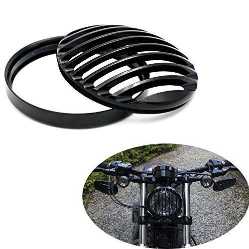 CISUNG Metal Headlight Grill Cover Fits Harley Davidson Sportster XL 883 1200 X48 Black