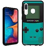 Galaxy A20 / A50 Case [Gameboy Mint](Black) PaletteShield Flexible Slim TPU Skin Phone Cover (fit Samsung Galaxy A20 / A50)
