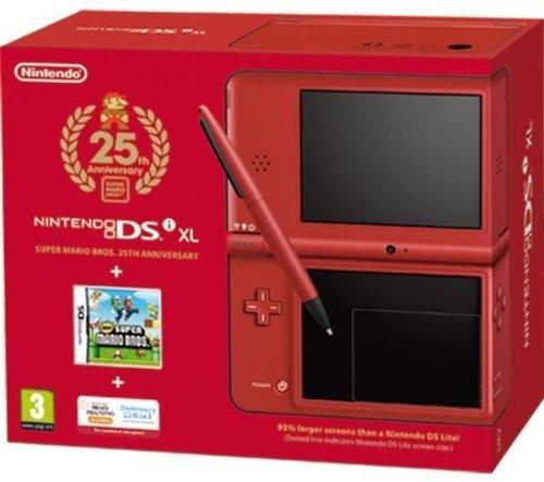 Nintendo DS - Consola DXL, Color Rojo (25th Anniversary) + New Super Mario Bros