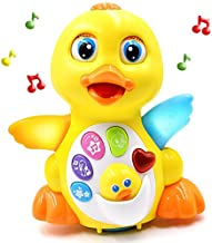 Fantastic Zone Light Up Dancing and Singing Musical Duck Toy - Infant, Baby and Toddler Musical and Educational Toy for Girls and Boys Kids or Toddlers