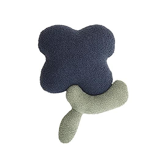 RF-Influx Flower Decorative Throw Pillow Floor Pillows Chair Cushions Decor Sofa Pillow Lumbar Pillow for Bay Window, Household, Office, Car, Couch (Blue)