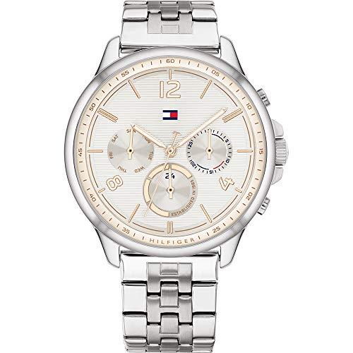 Tommy Hilfiger Damen Analoger Quarz Uhr mit Edelstahl Armband 1782222