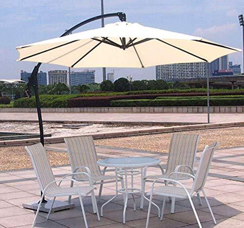 Preisvergleich Produktbild smzzz Wohnmöbel Sonnenschirm Excéntrico de Jardín Mástil de Aluminio Con Manivela Protección UV 50+ 6 Niveles de Inclinación Ø 300 cm