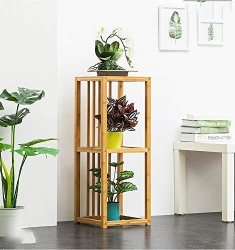 LKAIBIN Nivel de múltiples Planta cuadrada de madera puesto de flores de interior al aire libre Pot modernos stands Tiesto sostenedor del tiesto rack for casa, jardín, patio (Color: B, Tamaño: 32x32x8