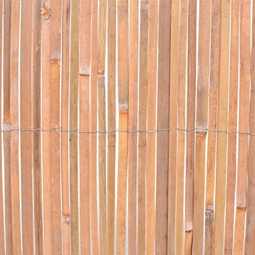 Garten Bambusmatte Sichtschutzmatte/Sichtschutzzaun | Für Garten, Balkon und Terrasse, Sichtschutz Gartenmatte | 100 x 400 cm