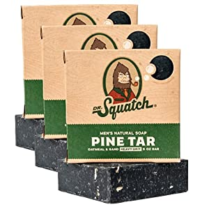 Dr. Squatch Pine Tar Soap 3-Pack Bundle – Mens Bar with Natural Woodsy Scent and Skin Exfoliating Scrub – Handmade with… 4
