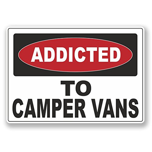 2 x 10 cm / 100 mm Addicted to Camper Vans vinilo...
