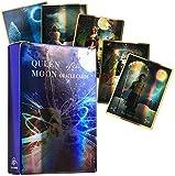 YQRX Reina de la Luna Oracle Tarjetas, Future Gaming Platform, Juegos de Mesa interesantes, Familia y Amigos Recogiendo Tarjetas de Tarot (Bolsas, manteles)