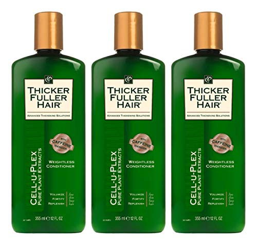 Thicker Fuller Hair Conditioner Weightless 12 Ounce (355ml) (Pack of 3)