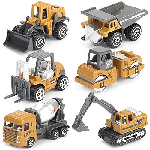 Dreamon Kit di Modellismo Camion Giocattoli Macchinine Giocattolo per Bambini 3 Anni, 6 Pezzi