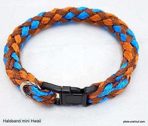 elropet Hundehalsband Mini für die Kleinen rundgeflochten Tauwerk Hawaii (26cm) Halsband kleine Hunde