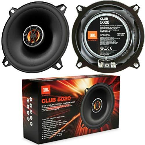 2 Altavoces Compatible con JBL Club 5020 coaxiales 13,00 cm 130 mm 5,25' de diámetro 40 vatios rms y 120 vatios máx 3 ohmios 91 db spl, por par