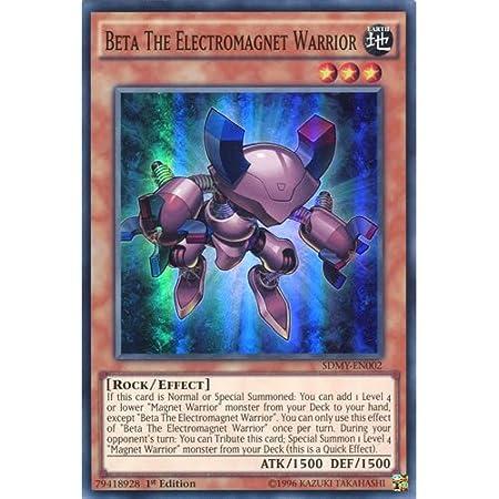 Beta The Electromagnet Warrior SDMY-EN002 1st Edition Super Rare