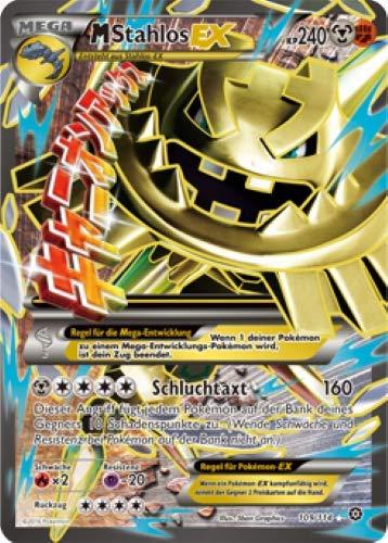 M Stahlos EX 109/114 Full Art Pokémon XY Dampfkessel Sammelkarte - Deutsch - Cardicuno