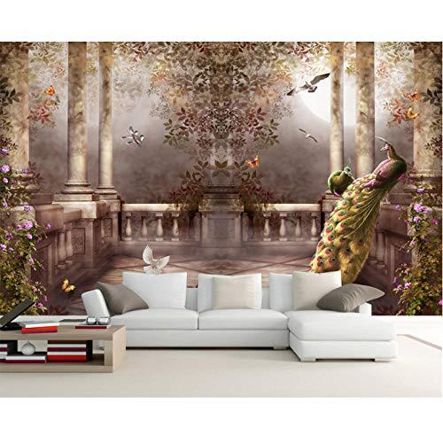 Jukunlun 3D Wallpaper Für Wände Pfau Fototapete Rokoko Tapete Schlafzimmer Raumdekor Tv...