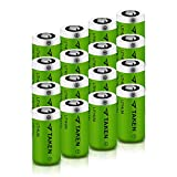 CR123A Lithium Batteries, Taken 1600mAh CR123A 3V Lithium Battery for Flashlight Torch Microphones (16 Pack)