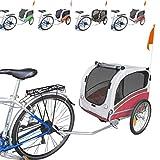 Papilioshop Snoopy Remolque de Bicicleta para el Transporte de Perros y Animales (Rojo M)