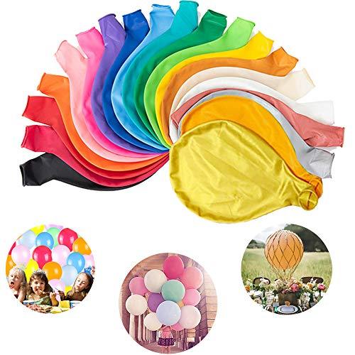 MEISHANG Riesen Luftballons Latex,Extra große Ballons,Schöne Ballons für Hochzeit,Latex Luftballons Groß,Grosse Luftballons Bunt,Grosse Luftballons Kinder,Grosse Luftballons (20PCS)