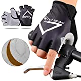 Guantes de ciclismo de medio dedo para niños, guantes de gimnasio, guantes de carreras, guantes antideslizantes de gel de dedo corto, transpirables, guantes de verano para bicicleta de montaña