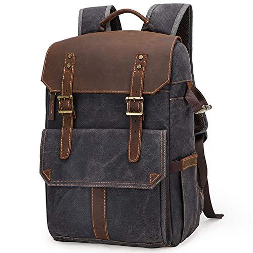 QND,Backpack Portable Waterproof DSLR Backpack Video Digital DSLR Camera Bag Multi-functional Outdoor Camera Photo Bag Case For DSLR Lens,dark gray