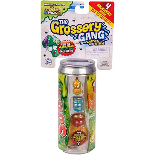 Grossery Gang Series 2 Rotten Soda Set of 4 Surprise Grossery's Includes Storage Can
