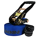 ALPIDEX Slackline 10 m Slackline para niños (2 t), Color:I Love Slackline. Azul
