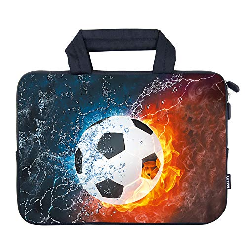 AMARY 11.6' 12' 12.1' 12.5 inch Laptop case Neoprene Notebook Carrying Pouch Chromebook Bags Laptop Sleeve Ultrabook Case Tablet Cover Fit Apple MacBook Air HP DELL Lenovo Asus Samsung (Soccer)