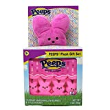Peeps Pink Plush Bunny with Peeps Marshmallow Candy Bunnies Gift Set