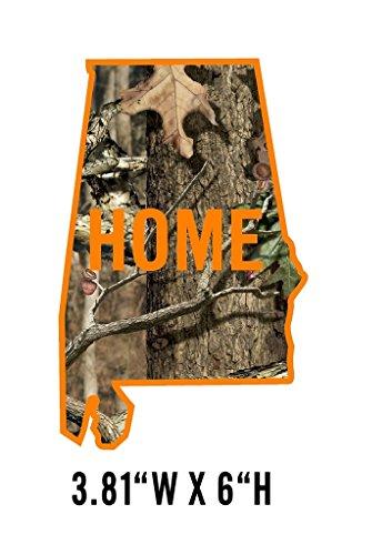 Signs By Woody Alabama Camo Orange Home State Pride Window Decal Sticker NRA NWTF