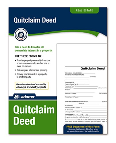 Adams Quitclaim Deed, Forms and Instructions (LF298) , White