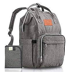 Image of Diaper Bag Backpack - Large...: Bestviewsreviews