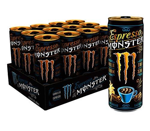 Monster Energy Espresso Monster Vanilla Cream, Espresso Energy Drink, 8.4 Ounce (Pack of 12)