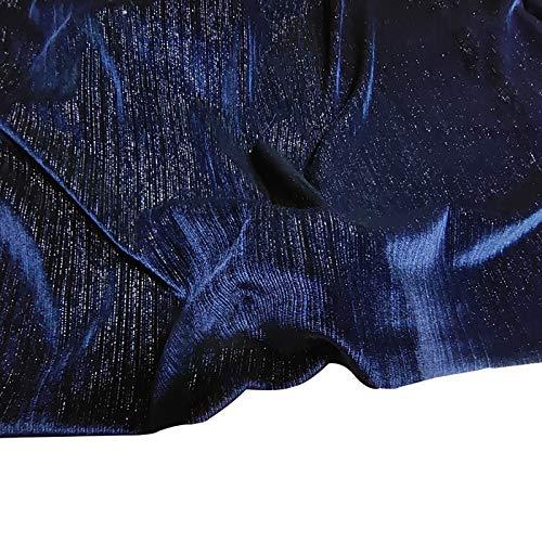 MUYUNXI Tela De Terciopelo Suave para Coser De Chaquetas Decoración Decoración del Hogar Cortinas Tapicería Vestido Sillas 150 Cm De Ancho Vendido por 2 Metro(Color:Armada)