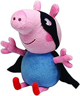 Ty 7146188 - Peluche de George de Peppa Pig con Antifaz y Capa (15cm)